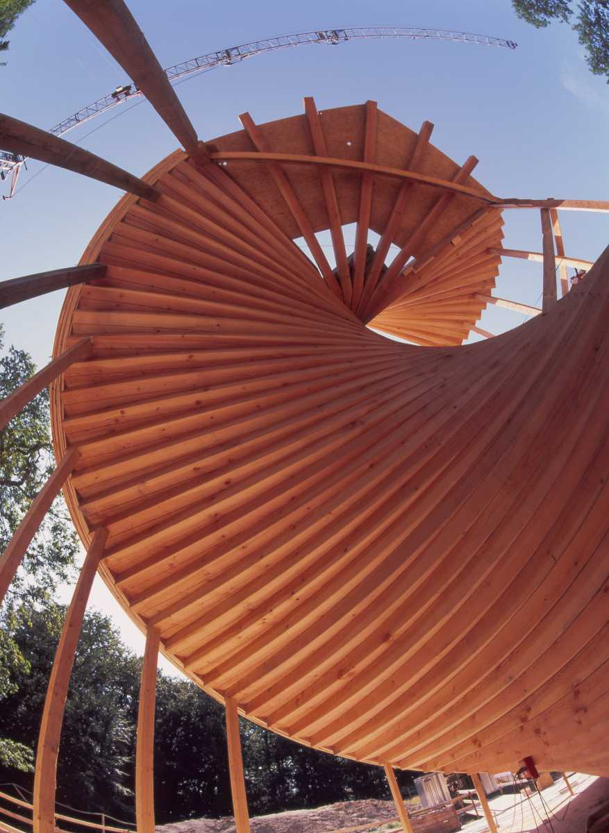 The Archimedes screw becomes a spiral